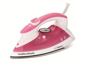murphy richards steam iron pink and white vgc