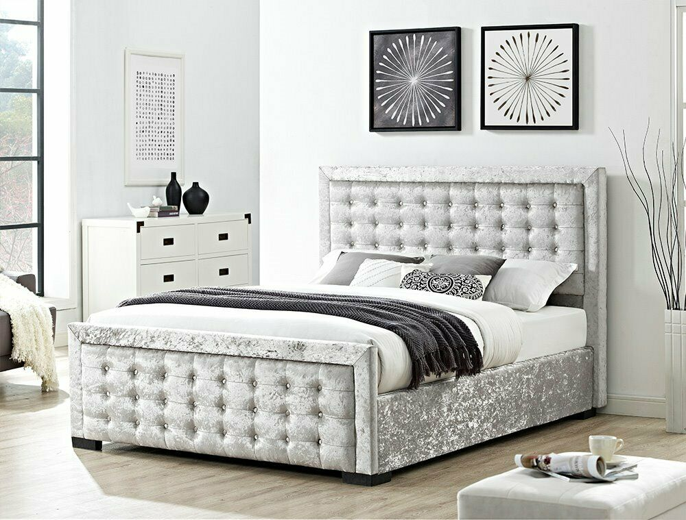 fd2e5184d BRAND NEW WOODROW BEDS-COLOUR-SILVER/BLACK/TAUPE ...
