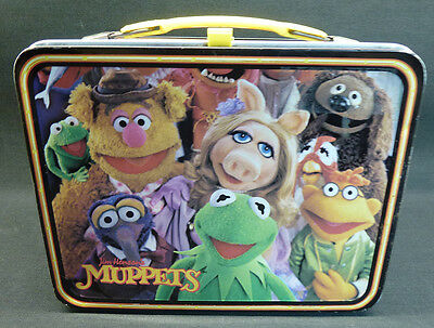 Vintage 1979 Muppets Metal Lunch Box Kermit The Frog Fozzie Miss Piggy Animal