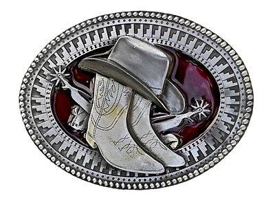 Gürtelschnalle Buckle f. Wechselgürtel Lizensiert Tanside Cowboyhut und Stiefel (Cowboy-hut Und Stiefel)