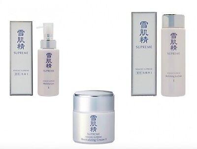 KOSE Sekkisei Supreme Set: Refining Lotion I 230ml  Moisturizer I 140ml  Cream I