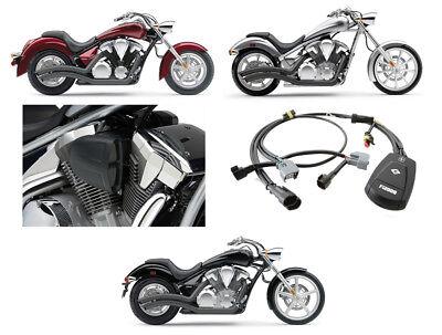 Cobra Black Speedster Swept Exhaust / PowrFlo Intake / Fi2000R - Honda VT1300C