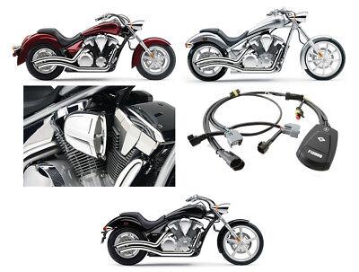 Cobra Chrome Speedster Swept Exhaust / PowrFlo Intake / Fi2000R - Honda VT1300C