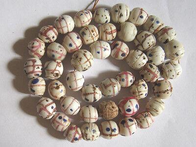 Alte venezianische Glasperlen, Augenp., Old Venetian Glass Beads, Medicine-men-b