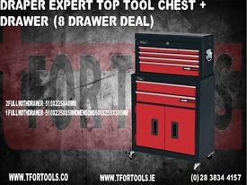 DRAPER EXPERT TOP TOOL CHEST + DRAWER (8 DRAWER DEAL)