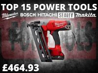 Milwaukee M18CN16GA-202X 18V Fuel 2x2Ah Li-ion 16G Angled Finish Nailer Kit