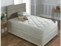 DOUBLE DIVAN BED WITH ORHTO MATTRESS AND HEADBOARD