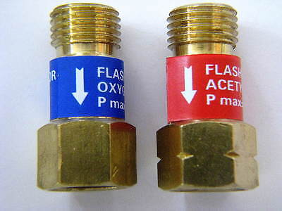 Oxygenacetylene Welding Check Valve Set Torch End Use Wflashback Arrestor
