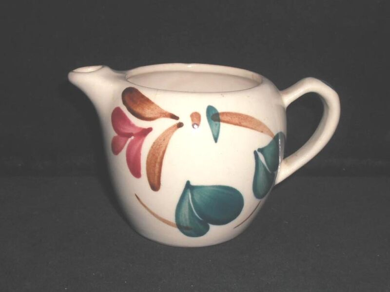 PURINTON Pottery creamer cream pitcher RED BLOSSOM IVY