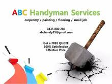 Handyman Services / carpentry / painting / flooring / small job Idalia Townsville City Preview