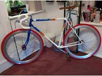 Vintage Refurbished Road Race Bike Single Speed Fixed Gear Flip Flop Retro