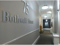 Private prestigeous office in Bothwell Street to rent.