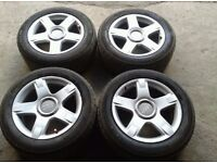 """2000-2005 AUDI ALLROAD C5 17"""" ALLOY WHEELS WITH TYRES 225/55ZR17"""