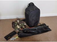 DSLR camera bag, tripod and accessories for sale