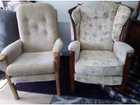 2 High back Chairs for sale
