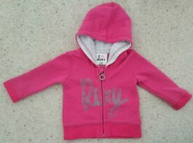 Roxy baby girl zip up jacket top age 3 months