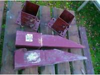 Fence fixings Metposts x 4 from Wickes