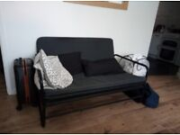 Black IKEA sofa-bed for sale, as new