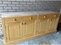 Solid Maple wood kitchen dresser