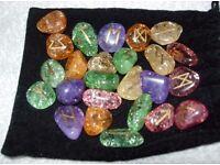 Fairy quartz (crackle quartz) runes £6