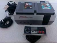 Nintendo Entertainment System NES Console & Mario 1 & 2 Games
