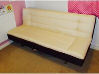Cream&Brown sofa bed