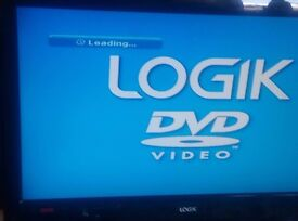 """LCD TV LOGIK 22"""" inch 1080 pixels 50 Hz TV With DVD Player"""