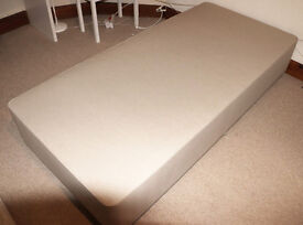 John Lewis Deluxe SPRUNG Divan base, cost £500!!, Single, two drawers, BARGAIN