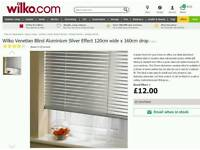 Two BRAND NEW venetian aluminium blinds in silver