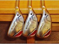 PING K SERIES 3,4,5,HYBRIDS 6,7,8,9,PW.SW.UW IRONS.TOTALLY IMMAC AND 100% GENUINE.REG STEEL .