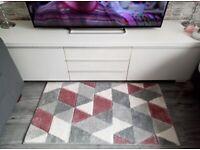 IKEA white gloss TV unit