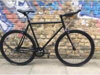 Brand new single speed /fixed gear bike road racing hybrid bicycle matt black