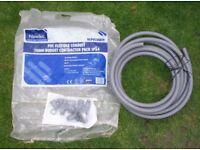 20mm pvc flexable electrical conduit 6.7 meters + fixings