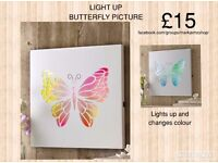 Butterfly Led wall picture
