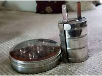 Indian spice container and 3 tier Tiffin