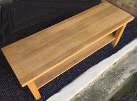 Bench - Oak with Shoe Shelf