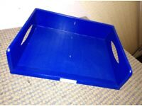 Letter/Paper tray jumbo blue. Great quality A3 size