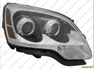 Head Lamp Passenger Side [2008-2012 (2008 2Nd Oe Design)] With Clear Lens High Quality GMC Acadia
