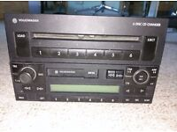 VW T5, GOLF, BORA CD MULTICHANGER STEREO SYSTEM - 6 DISC