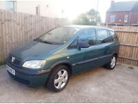 Vauxhall Zafira for spare or repair