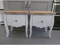 Bedside tables/cabinets/drawers shabby chic rustic