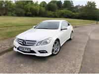 Mercedes e250 Amy white coupe