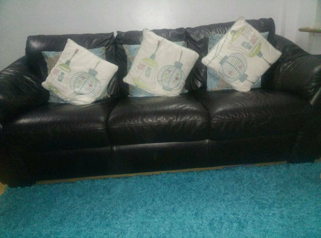 Real Leather Sofas 3 2 For Sale In Chelmsford Essex Gumtree