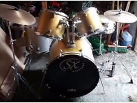 Drum Kit for sale, worth £400 new selling £100 ono