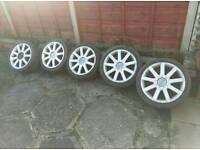 Audi 17 inch wheels alloys tyres X5