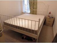 Ikea Bed (Leirvick) and mattress (Hesseng) . King Size