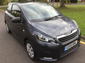2015 PEUGEOT 108 access, 3dr, 12 mnth MOT, £0 road tax, 1 owner from new, 35k miles, Full Peugeot SH