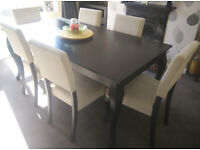 Dinning Table Chairs Extendable