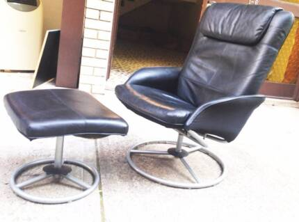 ikea leather arm chair with foot rest Bondi Beach Eastern Suburbs Preview
