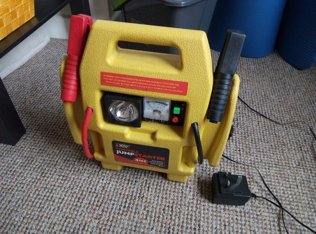 portable jump start car how to